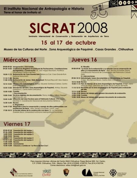 Programa SICRAT 2008