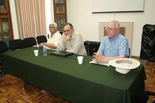Dr. Arturo Guevara, Dr. Cuauhtémoc Velásco, Dr. Víctor Orozco