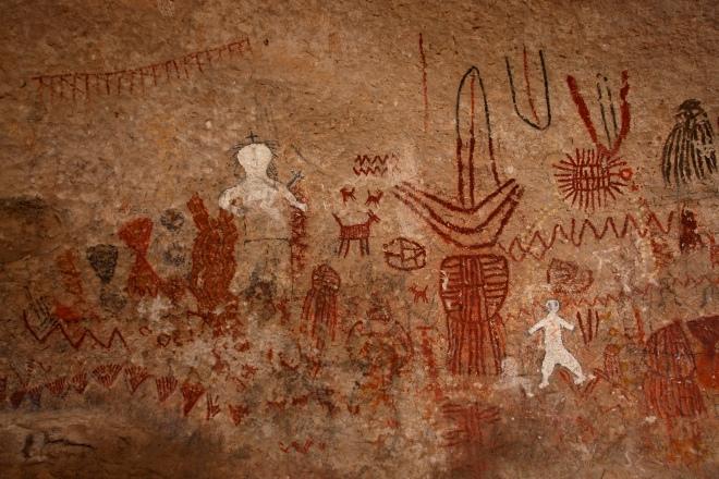 fondo pintura rupestre